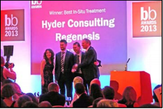 Brownfield-Organization Brownfield Organization Recognizes Hyder Consulting  and REGENESIS with Two Coveted Remediation Awards
