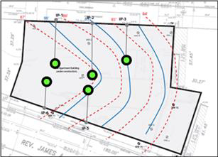 fig-1-application-site-map Petroleum Hydrocarbon and Chlorinated Solvent Treatment Using PersulfOx™ at a Former Service Station