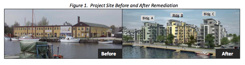 fig-1-before-after Successful Treatment of Chlorinated Solvents using 3‐D Microemulsion (3DMe®) allows for Housing Redevelopment