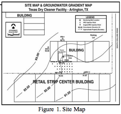 fig-1-site-map2 PCE and TCE Remediation at a Dry Cleaning Facility