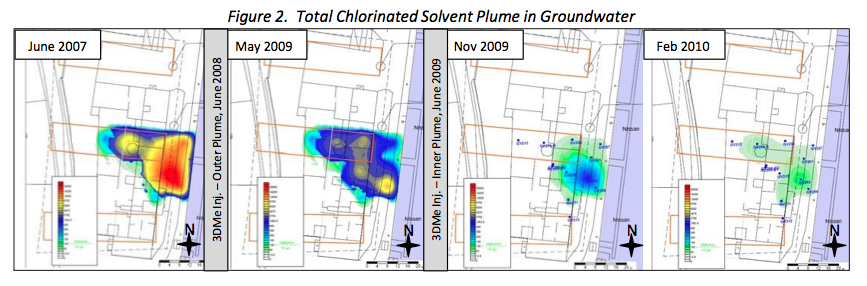 fig-2-chlorinated-solvent-plume Successful Treatment of Chlorinated Solvents using 3‐D Microemulsion (3DMe®) allows for Housing Redevelopment
