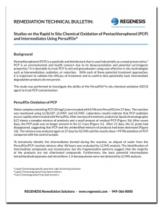 pcp-tech-bulletin-234x300 Remediation Technical Bulletin: PersulfOx Treatment Reduces PCP Contamination by >99%