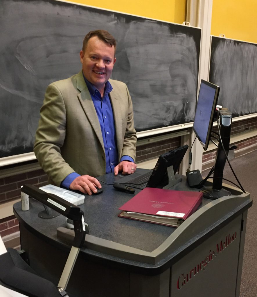 barry-poling-guest-lecturing-at-carnegie-mellon-university