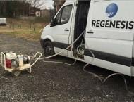 Site photo of Regenesis Van and pump